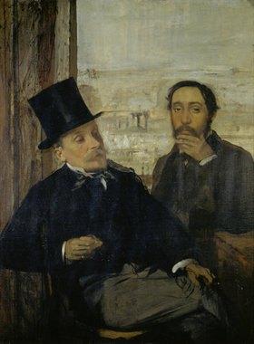 Edgar Degas: Selbstportrait mit Evariste de Valernes. Gegen