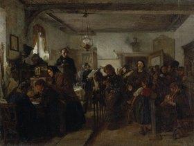 Felix Schlesinger: Hans Christian Andersen und Edgar Colin in einer Post- und Paßstube