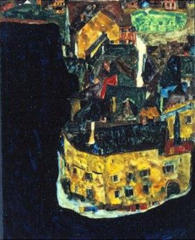 Egon Schiele: Stadt am blauen Fluss II