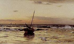 Eugen Dücker: Sonnenuntergang am Meer