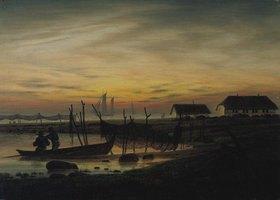Caspar David Friedrich: Küstenlandschaft im Abendlicht