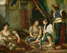 Eugene Delacroix: Die Frauen von Algier in ihrem Appartement. 1834