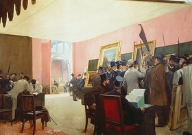 Henri Gervex: Die Jury tagt im Salon des Artistes Français 1883(?)