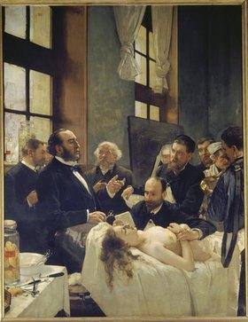 Henri Gervex: Vor der Operation. Doktor Péan beim Unterrichten im Hospital St. Louis