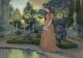 Eugene Samuel Grasset: Junge Frau in einem Garten