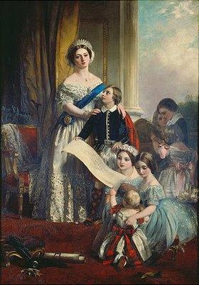 John Calcott Horsley: Königin Viktoria von England mit ihren Kindern