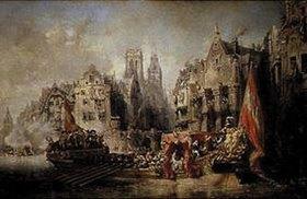 Jean-Baptiste Isabey: Die Ankunft des Herzogs von Alba in Rotterdam