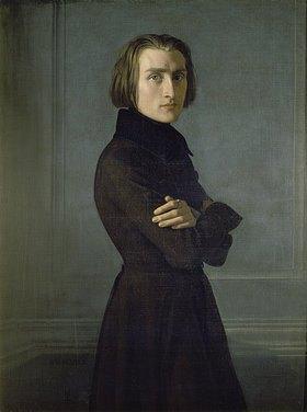 Henri (Heinrich) Lehmann: Bildnis Franz Liszt
