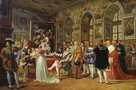 Gabriel Lemonnier: Raffael führt König Franz I. von Frankreich sein Werk 'Die heilige Familie' vor