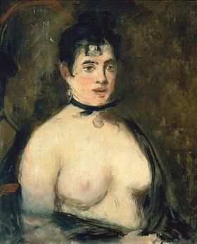 Edouard Manet: Die Brünette mit nacktem Busen