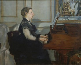 Edouard Manet: Madame Manet am Piano