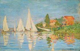 Claude Monet: Regattaboote in Argenteuil