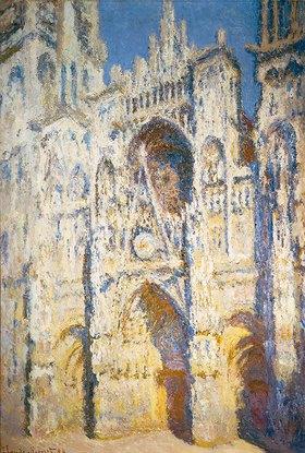 Claude Monet: Portal der Kathedrale von Rouen mit Turm Saint-Romain in voller Sonne