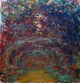 Claude Monet: Die Rosen-Allee in Giverny
