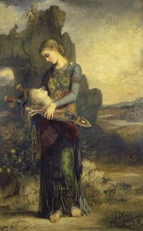 Gustave Moreau: Das Haupt des getöteten Orpheus