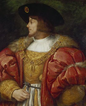 Italien.(nach Raffael) Meister: Bildnis des ungarischen Königs Lajos II. 1. Hälfte des 16. Jahrhunderts