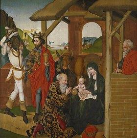 Martin Schongauer: Die Anbetung der Könige. Tafel des Hochaltars der Dominikanerkirche Colmar