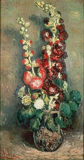 Vincent van Gogh: Vase mit Rosenmalven