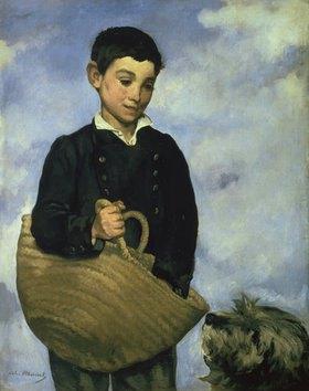 Edouard Manet: Knabe mit Korb und Hund
