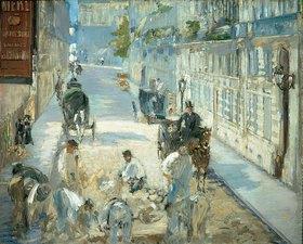 Edouard Manet: Die Rue Mosnier mit Pflasterern