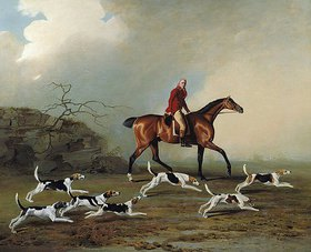 Benjamin Marshall: Captain W.H.Rickets bei der Fuchsjagd in Longwood