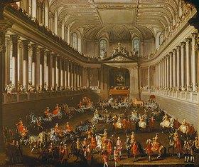 Martin Mytens (Meytens) d.J.: Damenkarussell in der Winterreitschule der Wiener Hofburg