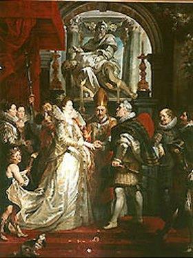 Peter Paul Rubens: Die vorläufige Vermählung der Maria de' Medici mit Heinrich IV