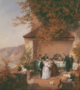 Theodor Schüz: Unterhaltung auf der Terrasse über dem Neckar (Ausschnitt)
