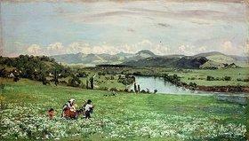 Hans Thoma: Am Rhein bei Säckingen