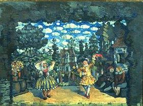 Nikolaj Sapunov: Tanz vor dem Hotel Grüner Stier