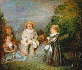 Jean Antoine Watteau: Kinder im Freien (Heureux âge d'or)