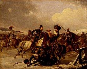 August Joseph Desarnod d.Ä.: Kosaken überfallen eine französische Einheit