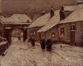 Helmuth Liesegang: Winterliche Dorfstrasse