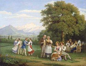 Frederic Fregevize: Fest auf dem Lande bei Genf mit Blick auf den Mont Blanc