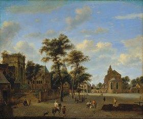 Jan van der Heyden: Platz mit Kölner Motiven