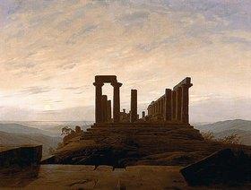 Caspar David Friedrich: Der Junotempel in Agrigent