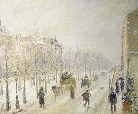 Camille Pissarro: Auf dem Boulevard bei Schneefall