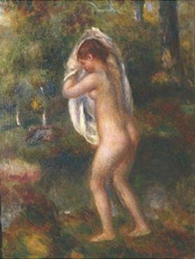 Auguste Renoir: Junges Mädchen, sich im Walde zum Bade entkleidend