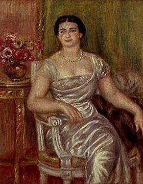 Auguste Renoir: Die Dichterin Alice Valliere