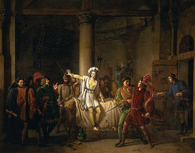 Pierre Henri Révoil: Jeanne d'Arc im Gefängnis in Rouen