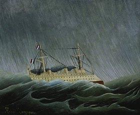 Henri Rousseau: Dampfschiff im Sturm