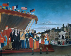 Henri Rousseau: Die Repräsentanten der ausländischen Mächte begrüssen die Republik