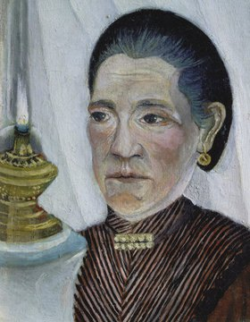 Henri Rousseau: Bildnis der zweiten Frau des Künstlers mit der Lampe