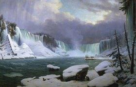 Hippolyte Victor Valentin Sebron: Panorama der Niagara-Fälle im Winter