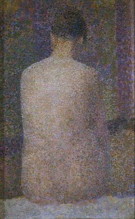 Georges Seurat: Rückenansicht einer weiblichen Aktfigur