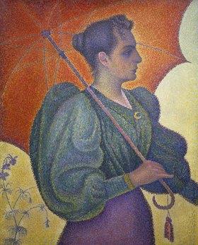 Paul Signac: Bildnis der Berthe Signac mit Schirm