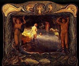 Ludwig von Hofmann: Idyllische Landschaft mit Badenden