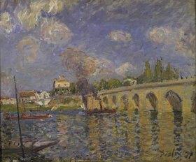 Alfred Sisley: Flussdampfer und Brücke