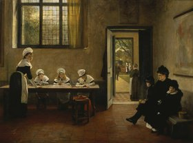 George Adolphus Storey: Die Ankunft im Waisenhaus