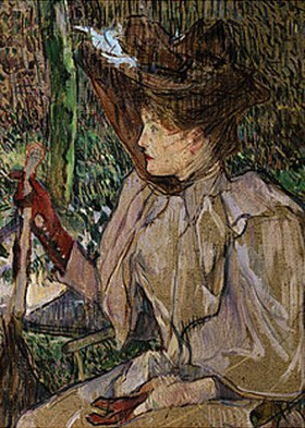 Henri de Toulouse-Lautrec: Sitzende Frau mit Handschuhen (Honorine Platzer)
